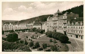 AK / Ansichtskarte Marienbad_Tschechien_Boehmen Goetheplatz Marienbad_Tschechien