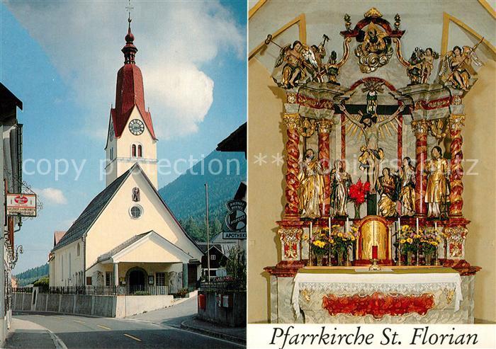 AK / Ansichtskarte Bad_Bleiberg Pfarrkirche St Florian 17. Jhdt. Altar Bad_Bleiberg