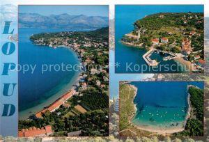 AK / Ansichtskarte Lopud_Dubrovnik Kuestenpanorama Bucht Hafen Fliegeraufnahmen Lopud Dubrovnik