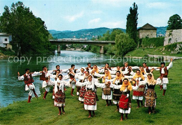 AK / Ansichtskarte Mazedonien Volkstaenze Region Povardarje Trachten Mazedonien