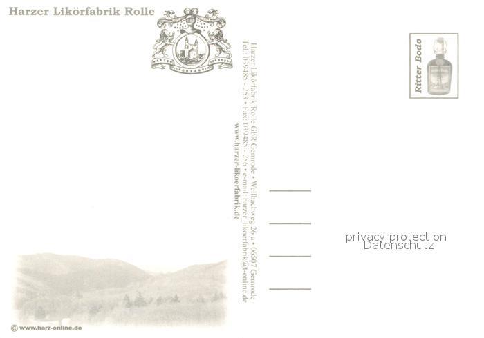 Ak Ansichtskarte Gernrode Harz Harzer Likoerfabrik Rolle Ritter