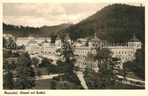 AK / Ansichtskarte Marienbad_Tschechien_Boehmen Kursaal mit Neubad Marienbad_Tschechien
