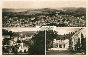 AK / Ansichtskarte Marienbad_Tschechien_Boehmen Panorama Kursaal Neubad Ferdinandsbrunnen Kreuzbrunnen Marienbad_Tschechien