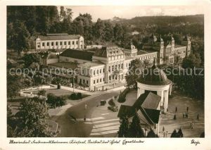 AK / Ansichtskarte Marienbad_Tschechien_Boehmen Ferdinandsbrunnen Kursaal Neubad und Hotel Egerlaender Marienbad_Tschechien