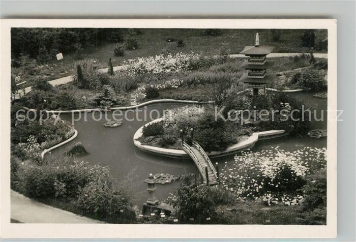 AK / Ansichtskarte Bad_Luhatschowitz_Tschechien Japanischer Garten Bad_Luhatschowitz