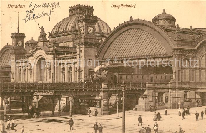 AK / Ansichtskarte Dresden Hauptbahnhof Dresden