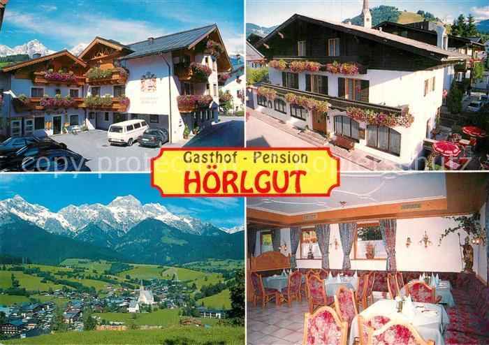 AK / Ansichtskarte Maria_Alm_Steinernen_Meer Gasthof Pension Hoerlgut Gesamtansicht mit Alpenpanorama Maria_Alm_Steinernen_Meer