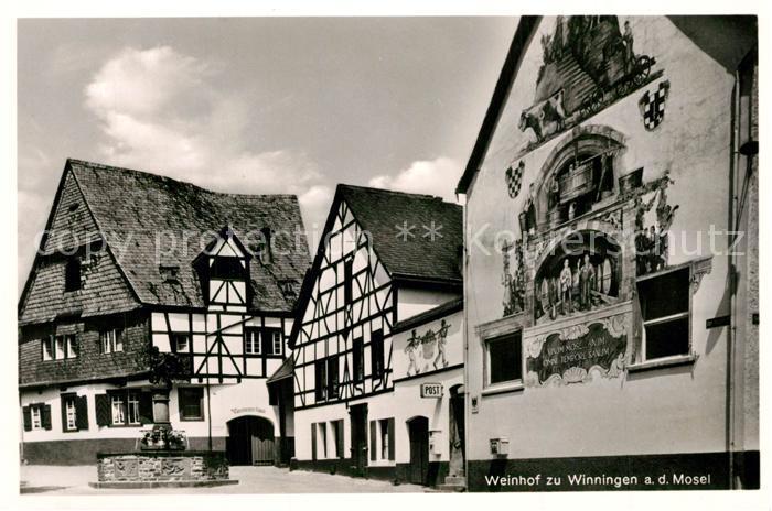 AK / Ansichtskarte Winningen_Mosel Weinhexenhaus Brunnen Winningen Mosel