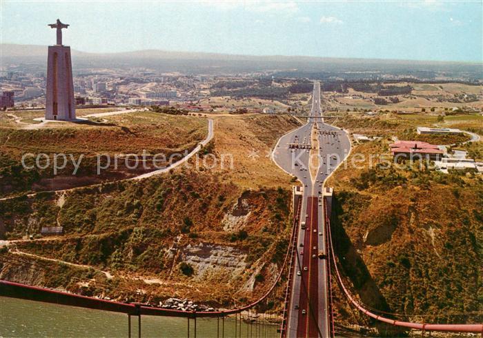 AK / Ansichtskarte Almada Monumento Cristo Rei Ponte Almada