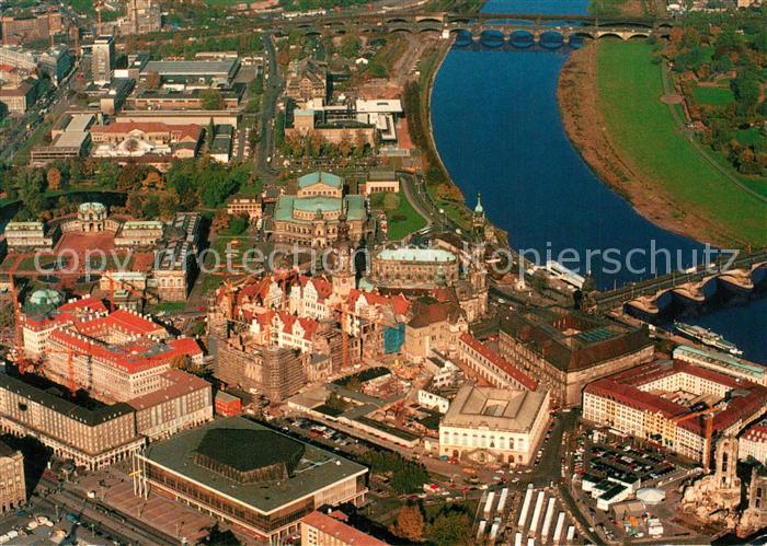 AK / Ansichtskarte Dresden Altstadt Fliegeraufnahme Dresden