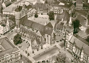 AK / Ansichtskarte Braunschweig Dom Burgplatz und Burg Fliegeraufnahme Braunschweig