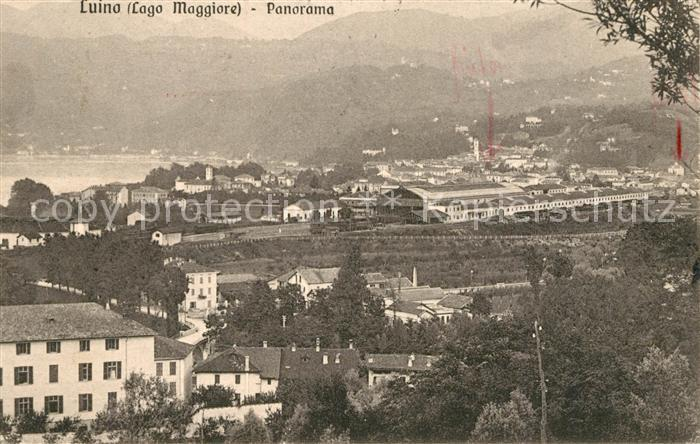 AK / Ansichtskarte Luino_Lago Maggiore Panorama Luino_Lago Maggiore