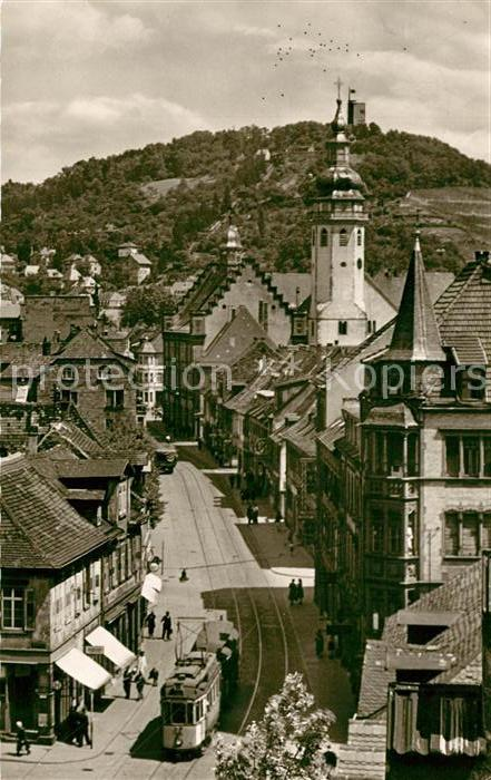 AK / Ansichtskarte Durlach Strassenbahn Kirche Turmberg Durlach