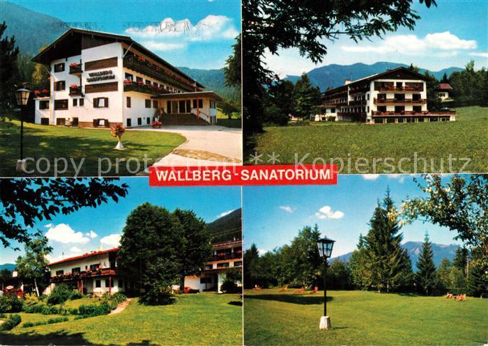 AK / Ansichtskarte Rottach Egern Wallberg Sanatorium Parkanlagen Alpen Rottach Egern