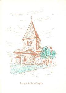 AK / Ansichtskarte Saint Sulpice_VD Temple Kirche