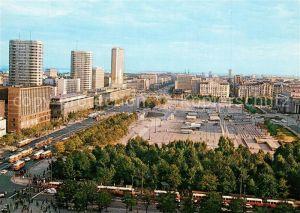 AK / Ansichtskarte Warszawa Widok na plac Defilad i ulice Marszalkowska Warszawa