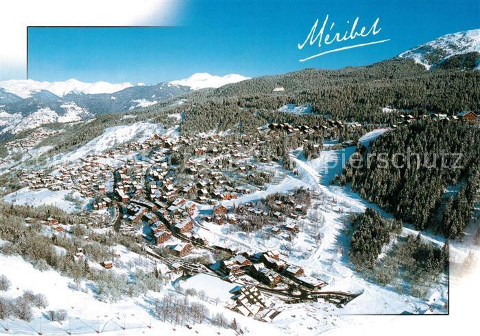 AK / Ansichtskarte Meribel Vue aerienne panoramique Meribel