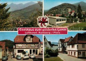 AK / Ansichtskarte Ramberg Gasthaus Metzgerei Zum goldenen Lamm Landschaftspanorama Ramberg