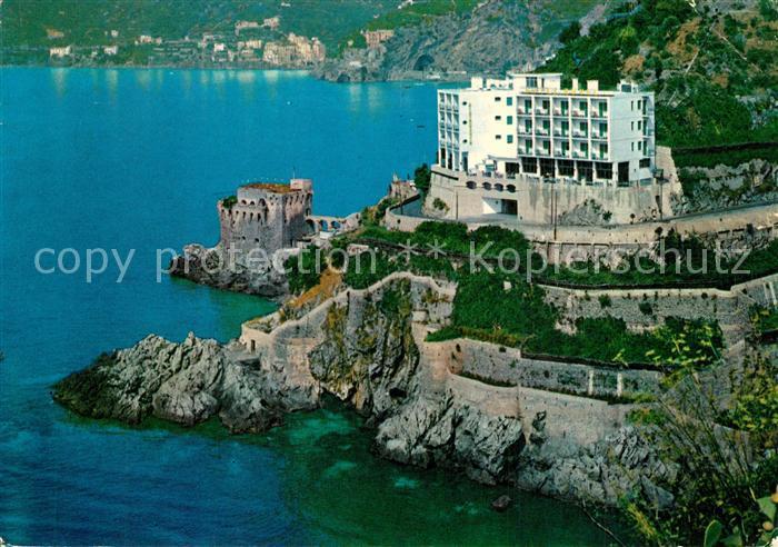 AK / Ansichtskarte Maiori Torre Normanna e Hotel Royal Fliegeraufnahme Maiori