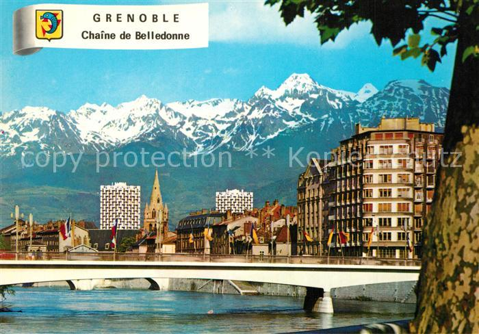 AK / Ansichtskarte Grenoble Pont de la Porte Chaine de Belledonne Grenoble