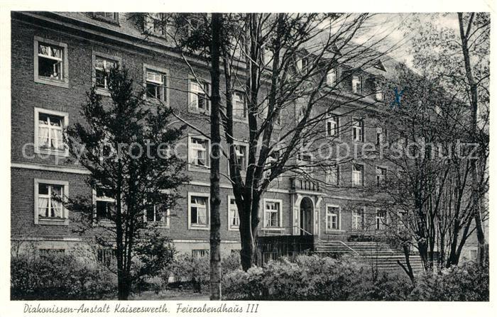 AK / Ansichtskarte Kaiserwerth Diakonissen Anstalt Feierabendhaus III Kaiserwerth