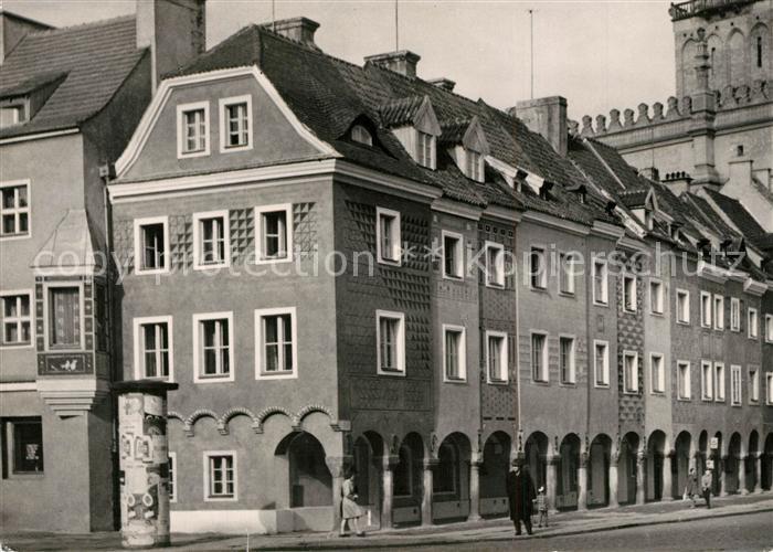 AK / Ansichtskarte Poznan_Posen Kamieniczki starojiejskie Haeuser Innenstadt Poznan Posen