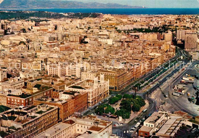 AK / Ansichtskarte Cagliari Via Roma e panorama dall aereo Cagliari