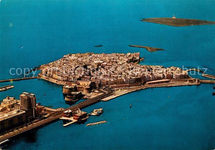 AK / Ansichtskarte Gallipoli Ponte Isole Citta Vecchia e Sant Andrea veduta aerea Gallipoli