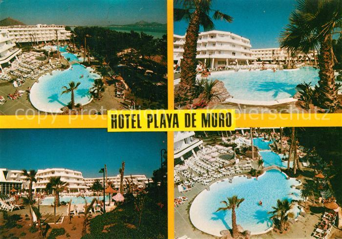 Mallorca Karte Playa De Muro.Ak Ansichtskarte Muro Mallorca Hotel Playa De Muro Swimming Pool Muro Mallorca