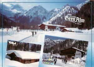 AK / Ansichtskarte Pertisau_Achensee Alpengasthof Gernalm Wintersport Alpen Pertisau Achensee