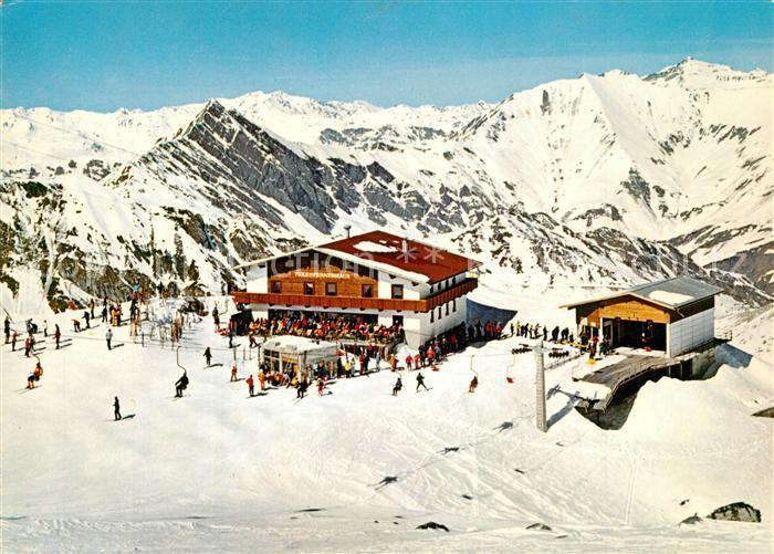 AK / Ansichtskarte Hintertux_Zillertal Hintertuxer Gletscherbahn Wintersportplatz Zillertaler Alpen Stubaier Alpen Hintertux_Zillertal