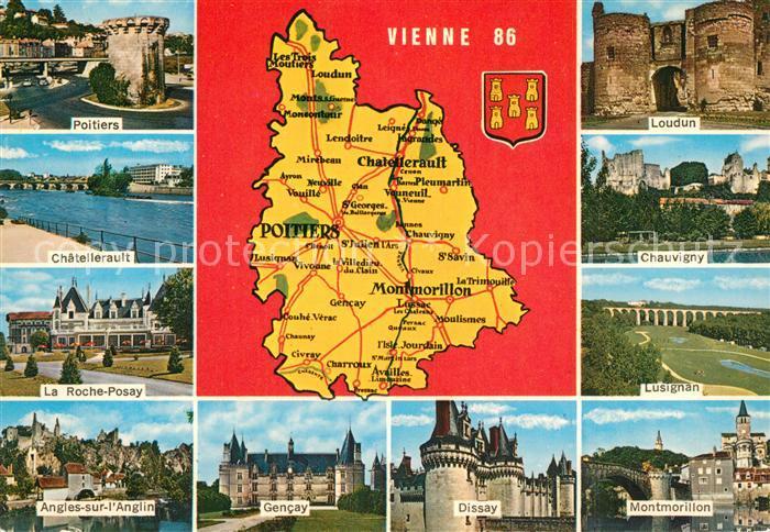AK / Ansichtskarte Vienne_Isere Poitiers Chatellerault La Roche Posay Angles sur l'Anglin Loudun Chauvigny Lusignan Gencay Dissay Montmorillon Vienne Isere