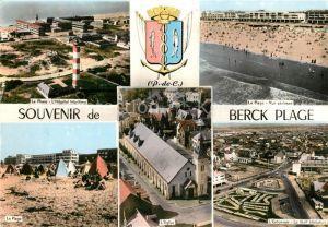 AK / Ansichtskarte Berck Plage Le Phare Hopital Maritime La Page Vue aerienne l'Eglise l'Entonnair le Golf Miniature Berck Plage