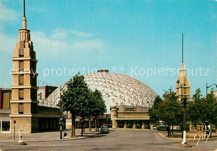 AK / Ansichtskarte Paris et ses Merveilles Porte de Versailles entree du Parc des Expositions et le Palas des Sports Paris