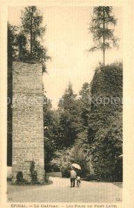 AK / Ansichtskarte Epinal_Vosges Chateau Les Piles du Pont Levis Schloss Epinal Vosges