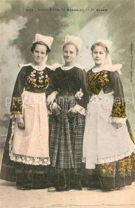 AK / Ansichtskarte Bannalec Jeunes filles Costumes Trachten Bannalec