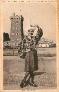 AK / Ansichtskarte Les_Sables d_Olonne Les adieux au depart pour la peche Jeune Fille Costumes Trachten Les_Sables d_Olonne