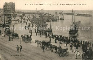 AK / Ansichtskarte Le_Treport Le Quai Francois Ier et le Port Le_Treport