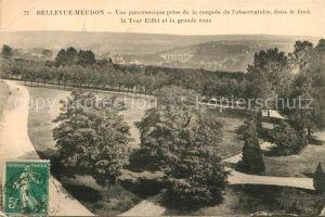 AK / Ansichtskarte Bellevue_Meudon Vue panoramique prise de l observatoire dans le fond La Tour Eiffel et la grande roue Bellevue_Meudon
