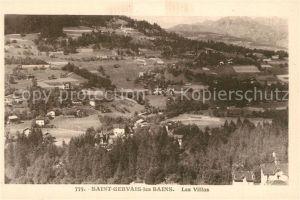 AK / Ansichtskarte Saint Gervais les Bains Panorama et les Villas Saint Gervais les Bains