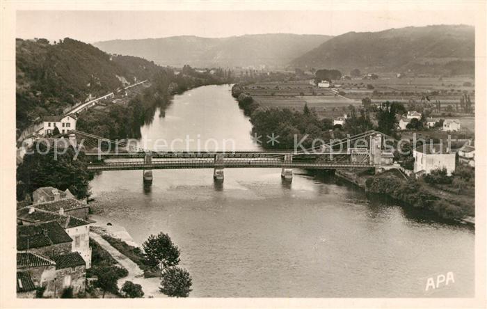 AK / Ansichtskarte Puy l_Eveque Les Deux Ponts et la plaine d Issudel vue aerienne Puy l Eveque