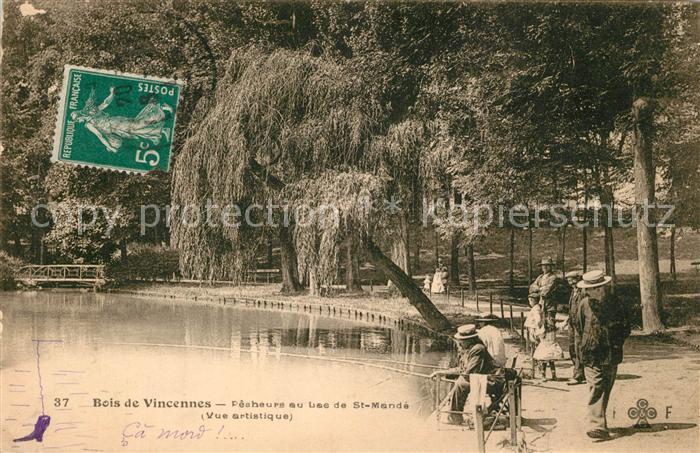 AK / Ansichtskarte Bois_de_Vincennes Lac de Saint Mande Bois_de_Vincennes