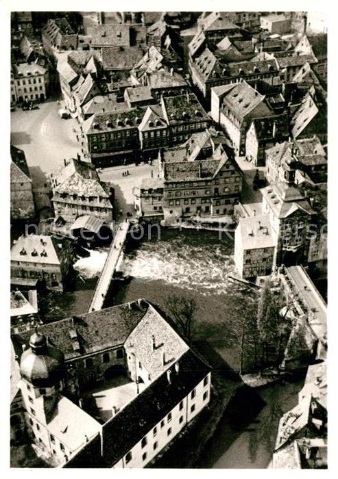 AK / Ansichtskarte Bamberg Fliegeraufnahme Alten Rathaus Schloss Bamberg
