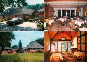 AK / Ansichtskarte Schneverdingen Hotel Pension Haus Hubertus Gastraeume Schneverdingen