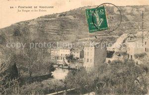 AK / Ansichtskarte Fontaine de Vaucluse La Sorgue et les Usines Fontaine de Vaucluse
