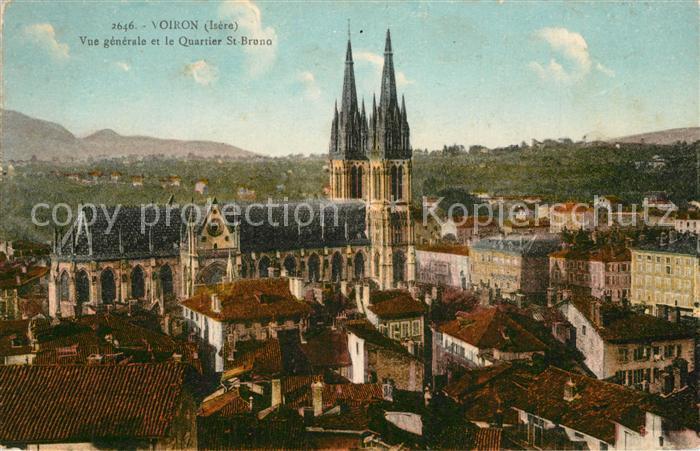 AK / Ansichtskarte Voiron Vue generale et le Quartier Saint Bruno Eglise Voiron