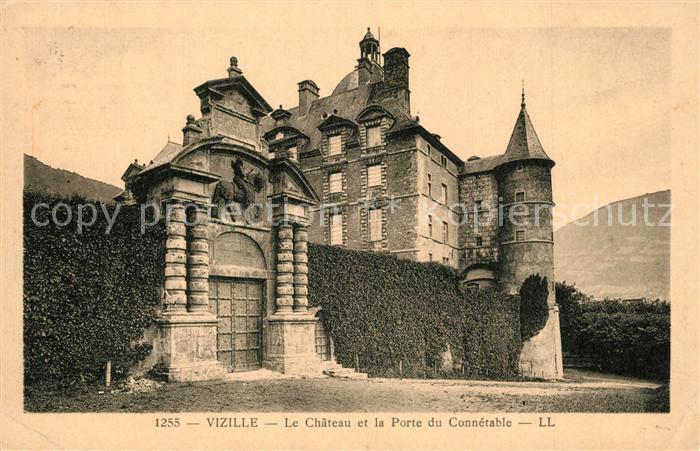 AK / Ansichtskarte Vizille Chateau et Porte du Connetable Vizille