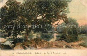 AK / Ansichtskarte Fontainebleau_Seine_et_Marne La Foret La Mare de Franchard Fontainebleau_Seine
