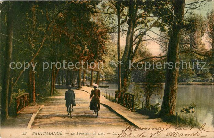 AK / Ansichtskarte Saint Mande_Val de Marne Le Pourtour du Lac Saint Mande Val de Marne