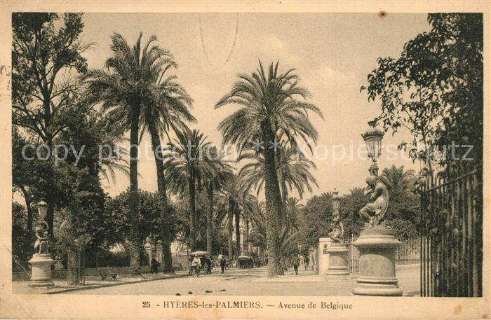 AK / Ansichtskarte Hyeres_les_Palmiers Avenue de Belgique Hyeres_les_Palmiers